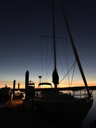 Alliance at Sunset, Tolers Cove Marina